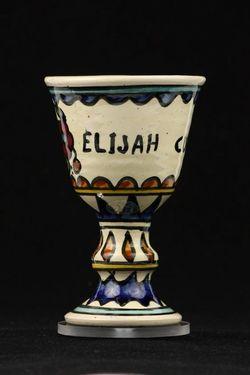 Pohár na stopke, keramický /Elijah cup/ - F00004