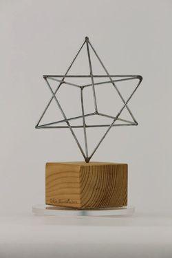 Plastika, Magen David, drôt, drevo - Z00044
