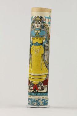Megila - zvitok Ester, v tubuse, papier - E00007/1,2