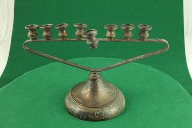Chanukija, obecný kov, postriebr. - G00031
