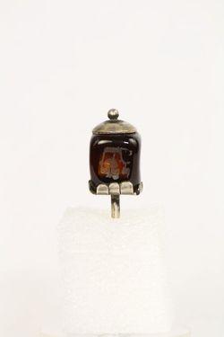 Dreidl, striebro, sklo - G00059